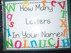 Great preschool class book ideas Preschool Names, Letter Activities, Writing Activities, Preschool Activities, Preschool Books, Preschool Alphabet, Letter Games, Alphabet Crafts, Counting Activities