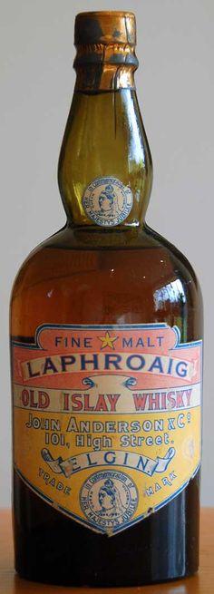 Laphroaig 1887, John Anderson bottling. http://www.finestandrarest.com/images/Laphroaig-1887-40KB.jpg