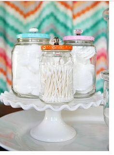 DIY bathroom jars
