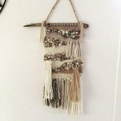 I'm just loving the creamy coffee colours in this one ... would love your feedback please. #weave #weaving #wool #textileart #textilearts #coastalart #coastaldecor #coastaldesign #wallart #wallhanging #beachdecor #beachdesign #driftwood #coffeeart #rosemadebeachdecor
