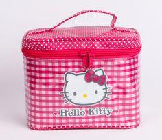 Hello Kitty Vanity Case: Pink Checkered