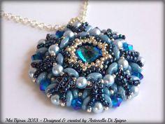 Jewelry : Beading pattern Renaissance pendant by Mei_Bijoux Beading