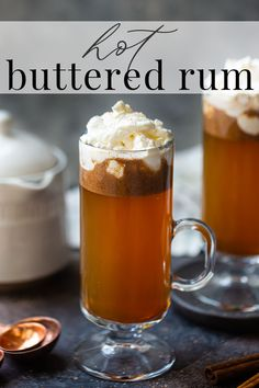 Hot Buttered Rum: The BEST way to warm up on a cold night! Easy to make in 5 minutes or less. #hotbutteredrum #butteredrum #easy #recipe #best #quick #microwave #hotdrinks #drinks #drink #hotdrink #hottoddy #drinksalcohol #rum #rumdrinks #toddy #cocktail #cinnamon #bakingamoment Mixed Drinks Alcohol, Drinks Alcohol Recipes, Alcoholic Drinks, Beverages, Drink Recipes, Cocktail Drinks, Cocktails, Hot Buttered Rum, Hot Toddy