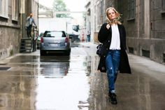 The Best from Milan Fashion Week Spring 2015 - Street Style Photos from Milan - Elle