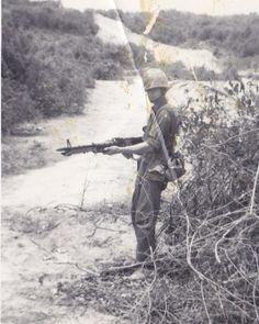 Marine with an M60 ~ Vietnam War