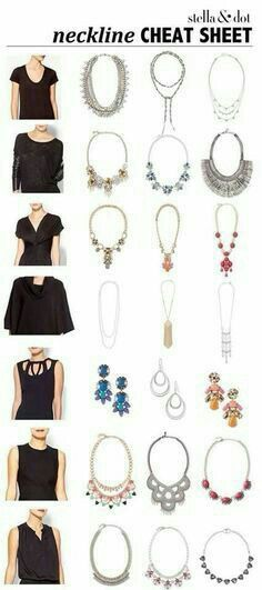 Necklace cheat sheet. ##sdjoy #stellaanddotstyle stella & dot