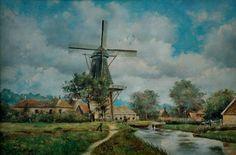 Oude Pekela - Kosters molen aan de Scholtenswijk, 1930
