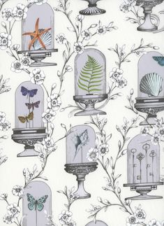 100% cotton Liberty Tana Lawn.    Approximately 137cm in width.     Glass Bell Jar, The Bell Jar, The Strawberry Thief, Liberty Art Fabrics, Grey Pattern, History Museum, Natural History, Textile Design, The Collector