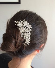 bridal comb, wedding hair comb, wedding comb, bridal hair comb, wedding hair accessories, vintage comb, crystal comb by LuxeBridalDesign on Etsy https://www.etsy.com/listing/228237282/bridal-comb-wedding-hair-comb-wedding