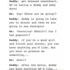 I'll give you anything daddy