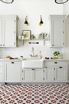 Design from the Ground Up: Rugs, however durable, aren't practical for a heavy-use kitchen. Enter statement floor tile.
