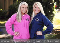 MONOGRAMMED CLASSIC HOODED PULLOVER