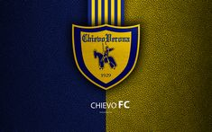 Download wallpapers Chievo Verona FC, 4k, Italian football club, Serie A, emblem, logo, leather texture, Chievo, Italy, Italian Football Championships, AC Chievo