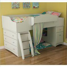 Low Loft Beds for a Girls Bedroom