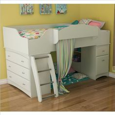 Low Loft Beds for a Girls Bedroom