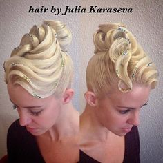 #ballroomhair Latin Hairstyles, Permed Hairstyles, Wedding Hairstyles, Dance Competition Hair, Ballroom Dance Hair, Long Hair Designs, Long Hair Tips, Special Occasion Hairstyles, Cut My Hair