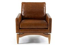 So yummy, five o'clock shadow-ish (Irving Leather Chair, Reynolds Caramel)