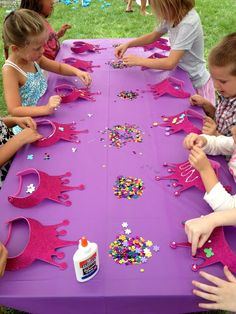 Prinzessinen Geburtstag Tisch Deko Idee *** princess party table deco
