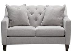 Solo Collection - Silver Loveseat Slumberland Furniture Recover Euro-sized pillows that come with the sofa with the white pillow covers from IKEA.