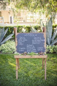#menu  Event Planning: Lindye Galloway - lindyegalloway.com/ Photography: Gabriel Ryan Photographers - gabrielryan.net/  Read More: http://www.stylemepretty.com/2011/08/25/hidden-hills-wedding-by-gabriel-ryan-photographers/