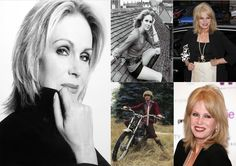 Joanna Lumley  OBE FRGS ~ Born Joanna Lamond Lumley, 1 May 1946 (age 69) in Srinagar, Kashmir and Jammu, British India.  English actress, voice-over artist, former model and author, who starred in the British television series Absolutely Fabulous as  Patsy Stone, as well as in The New Avengers, Sapphire & Steel, Jam & Jerusalem and Sensitive Skin. In film she has appeared in On Her Majesty's Secret Service (1969), Trail of the Pink Panther (1982) and James and the Giant Peach (1996).