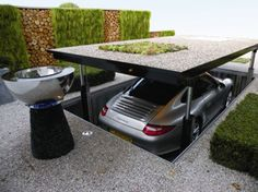 Hydraulic Underground Garage Parking - Very James Bond:)