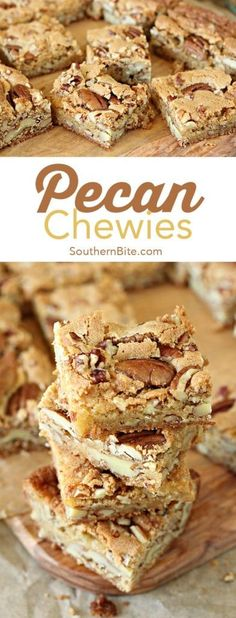 Pecan desserts are the epitome of fall comfort food. Get ready to mingle with family and friends around these fantastic pecan desserts! Pecan Desserts, Mini Desserts, Easy Desserts, Delicious Desserts, Desserts With Pecans, Recipes With Pecans, Recipes For Desserts, Sweet Desserts, Plated Desserts