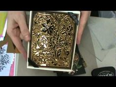 How to Make a Look of Embossed Metal Brown Bag Box by Tiffany Windsor - YouTube