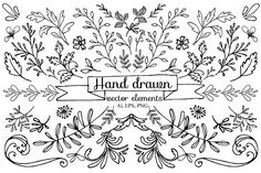Hand drawn vector elements by NovetteArt on @creativemarket