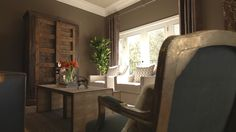 JEFF LEWIS COLOR, Walls in BEAVER, Trim in COTTON, Ceiling in QUARRY