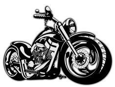 Vintage motorcycle illustration design vector 02