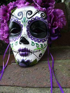 Mask Decoration Ideas Day Of The Dead Catrina Paper Mache Maskdavidfloresarte