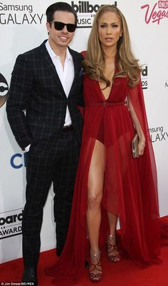In step: Jennifer Lopez with her 27-year-old boyfriend Smart on May 18 at the Billboard Music Awards