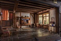 One of the Thorne rooms — an English cottage kitchen of the Queen Anne period (1702-14), made in about 1937. It is 10 inches high. Credit James Casebere for The New York Times