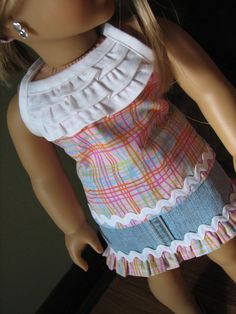 18 Doll clothing fits American Girl  Mini by MadiGraceDesigns
