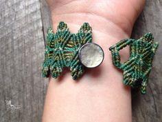 Macrame bracelet elven jewelry green leaves friendship bracelet micro macrame…                                                                                                                                                                                 More