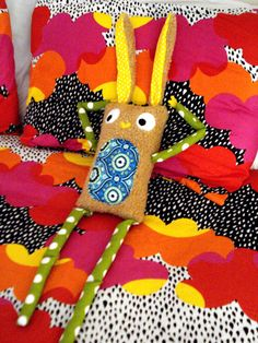 Mr. Bunny Plush Tuffed Plush Toys Rabit Polka Dots by cronopia6