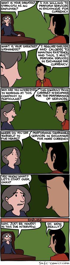 SMBC Comics. Honesty.