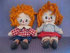 Vintage Raggedy Ann and Andy doll 1970s antique cloth rag doll knickerbocker
