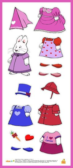 Max & Ruby - Ruby paper doll