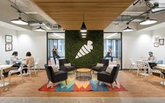 Instacart hired Blitz to design their new SF office located in the heart of San Francisco to accommodate rapidly growing staff. Corporate Interiors, Office Interiors, Commercial Design, Commercial Interiors, Counselling Room, Conference Room Design, Workspace Design, Contract Furniture, Co Working