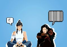 (GIF) Avatar Korra and Asami Sato | TLOK Not Korasami FAN but this is cute