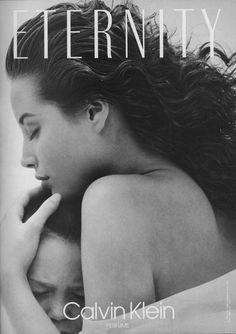 Christy Turlington em campanha do perfume Eternity, da Calvin Klein, em 1990 Calvin Klein Ads, Calvin Klein Euphoria, Bruce Weber, Christy Turlington, Eternity Calvin Klein, Perfume Glamour, Sons, Black White, Photography