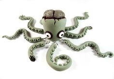 Zombie Octopus Loves BRAINZ!! By societysedso on Etsy. ;)