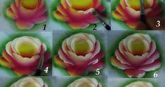 Como pintar rosa em tecido passo a passo, pintura em tecido passo a passo das rosas.fabric painting. artesanato