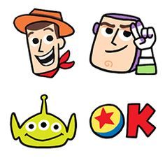 Take your messages to infinity and beyond with this emoji set from Toy Story! Buzz, Woody, and other favorites are hopping out of the toy box with a wide variety of fun emoji for you to use.
