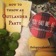 The Outlander TV series is here! Ideas for celebrating with Scottish food and drink, fun decor, viewing instructions, and more fun with Jamie and Claire.