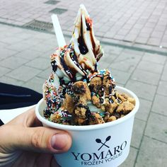 Trying the new frozen yogurt in town @yomaro_de #ms4l #frozenyogurt #almostice #citylife #developer #devdactic #codetosuccess