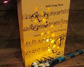 New Years Eve Count Down PARTY PACK,15 Custom Made Luminaries, Confetti, Noisemakers, Song Auld Lang Syne New Years 2013 Parties, Weddings
