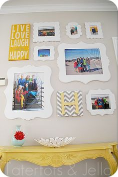 Great Ideas -- 18 Spring DIY Projects! // cute wall collage idea